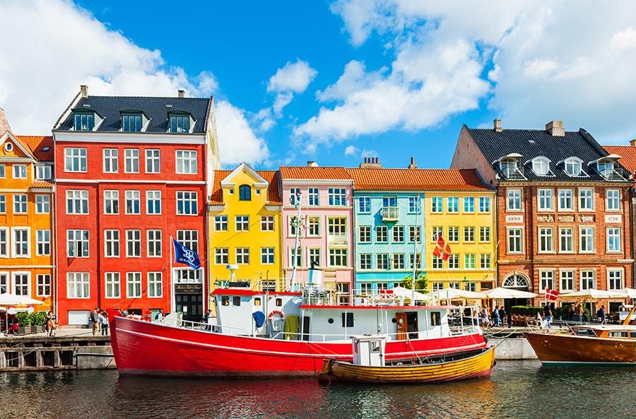 Buildings in Copenhagen, Denmark