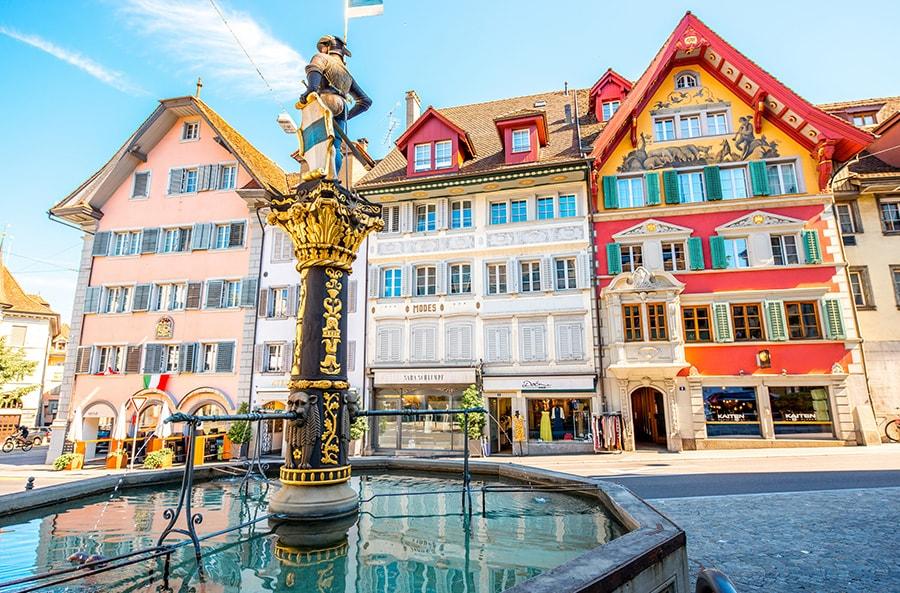 Fountain in Zug, Switzerland